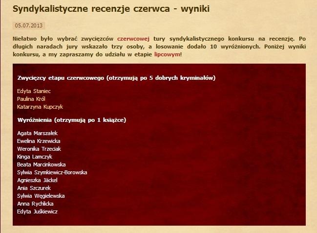 syndykat - czerwiec 2013
