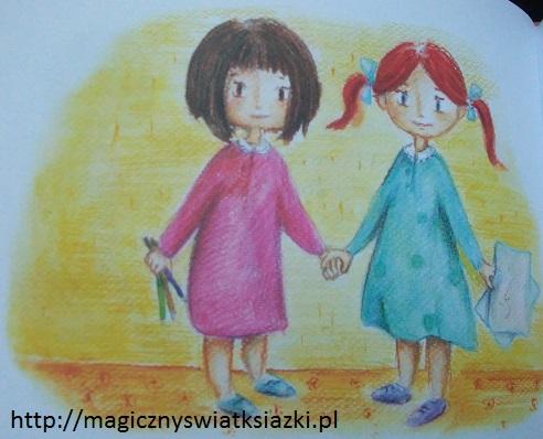 Bardzo mała dziewczynka i bardzo duży miś (2)